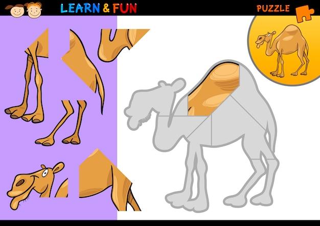 Gioco Di Puzzle Del Cammello Del Dromedario Del Fumetto Scaricare