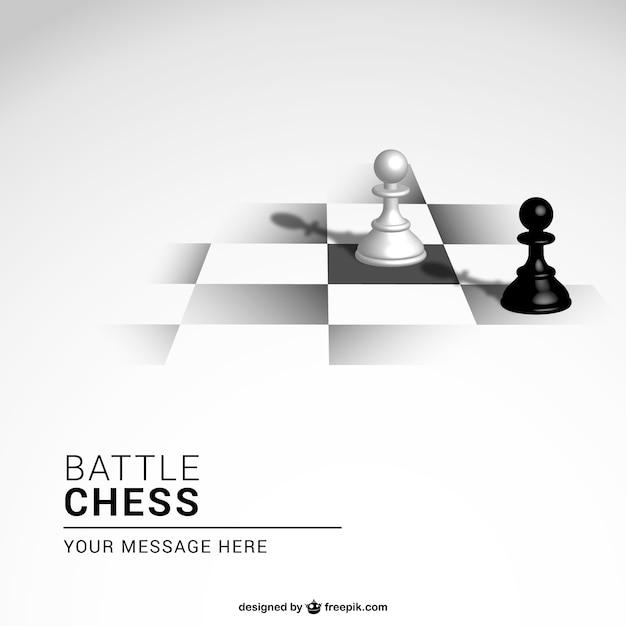 Gioco di scacchi sfondo Vettore gratuito
