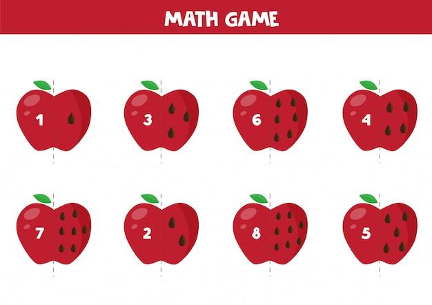 Gioco educativo di matematica per bambini Vettore Premium