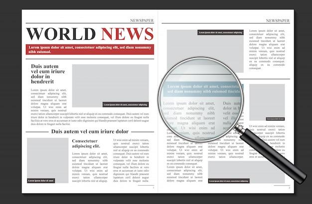 Giornale quotidiano, notizie promozionali aziendali Vettore Premium