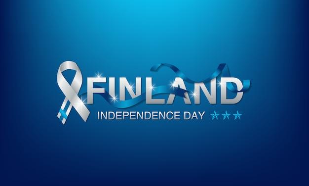 Giornata dell'indipendenza della finlandia Vettore Premium