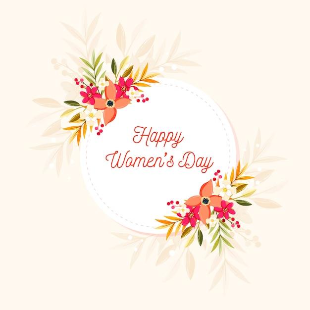 Giornata delle donne felici colorate Vettore gratuito