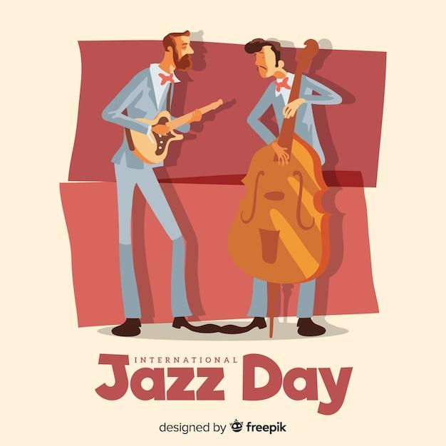 Giornata internazionale del jazz Vettore gratuito