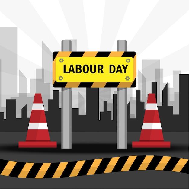 Giornata internazionale del lavoro Vettore Premium
