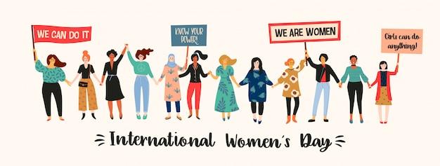 Giornata internazionale della donna Vettore Premium
