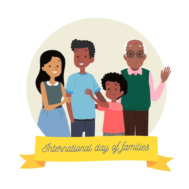 Giornata internazionale della famiglia disegnata a mano Vettore gratuito