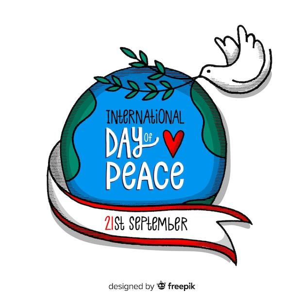 Giornata internazionale della pace sullo sfondo Vettore gratuito