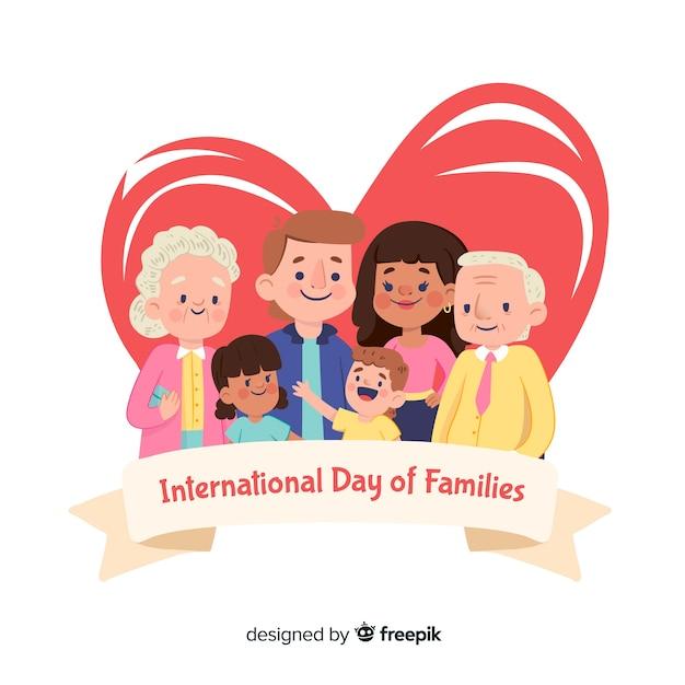 Giornata internazionale delle famiglie Vettore gratuito