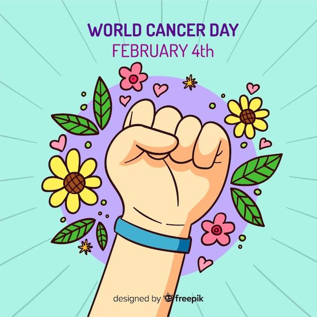 Giornata mondiale del cancro Vettore gratuito