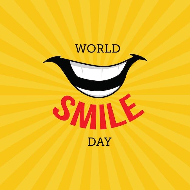 Giornata mondiale del sorriso Vettore Premium