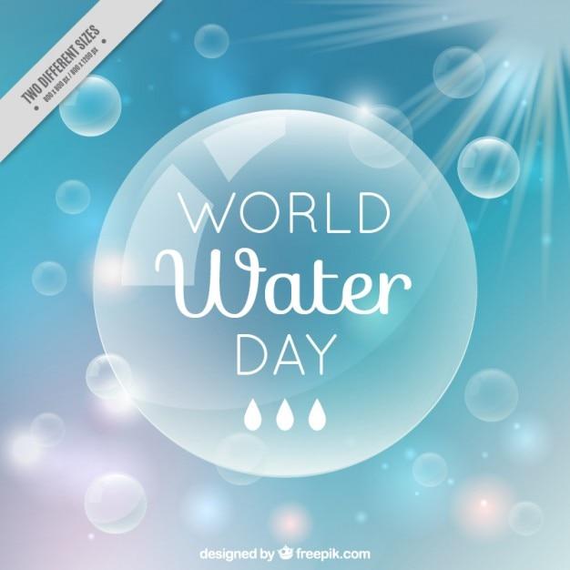 Giornata mondiale dell'acqua bolla sfondo Vettore gratuito
