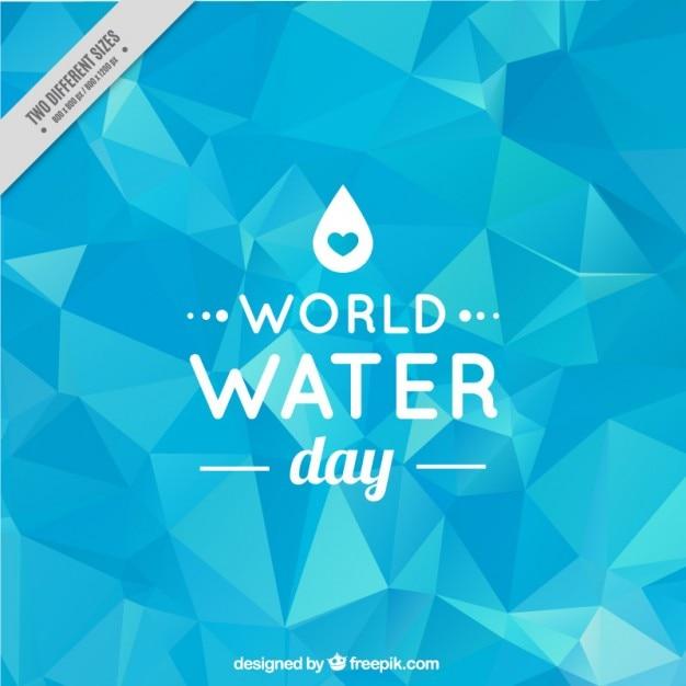 Giornata mondiale dell'acqua low poly sfondo Vettore gratuito
