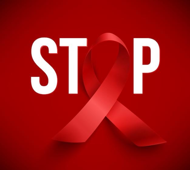 Giornata mondiale dell'aids Vettore Premium
