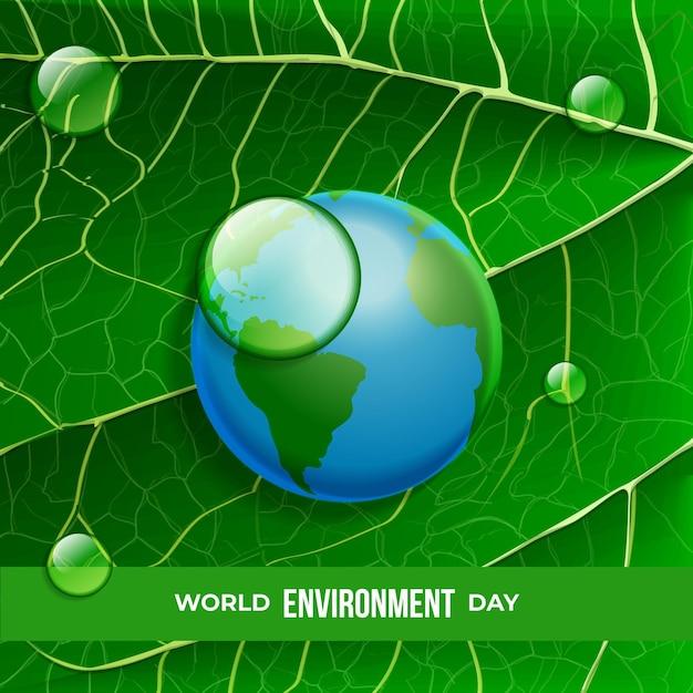 Giornata mondiale dell'ambiente realistico Vettore gratuito