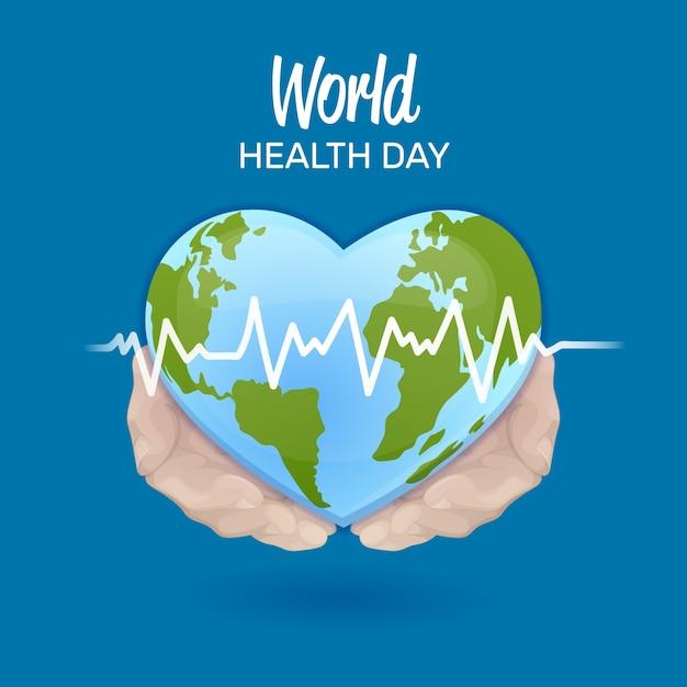 Giornata mondiale della salute disegno disegnato a mano Vettore gratuito