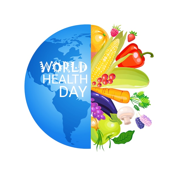 Giornata mondiale della salute Vettore Premium