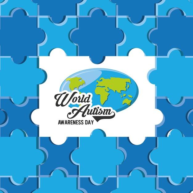 Giornata mondiale di sensibilizzazione sull'autismo Vettore Premium