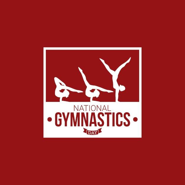 Giornata nazionale della ginnastica Vettore Premium