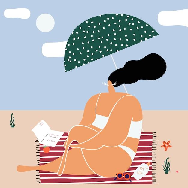 Giorni d'estate in spiaggia Vettore gratuito