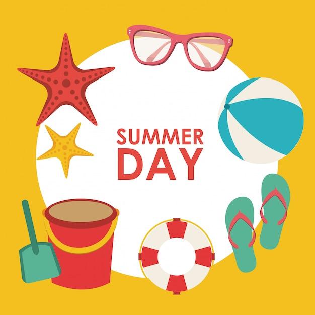 Giorno d'estate sfondo Vettore gratuito