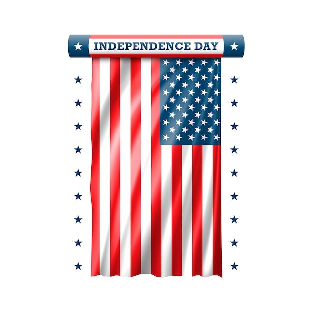 Giorno dell'indipendenza 4 luglio. Vettore Premium