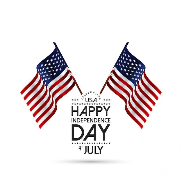 Giorno dell'indipendenza degli stati uniti, 4 luglio Vettore gratuito