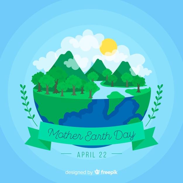 Giorno della madre terra Vettore gratuito