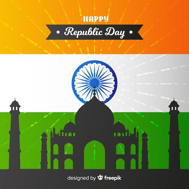 Giorno della repubblica indiana Vettore gratuito