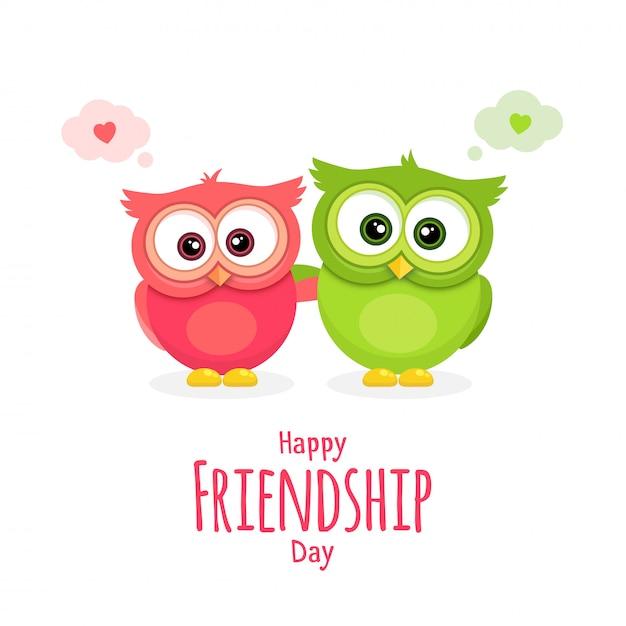 Giorno di amicizia Vettore Premium