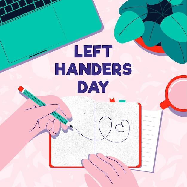 Giorno di mancini disegnati a mano con ordine del giorno Vettore gratuito