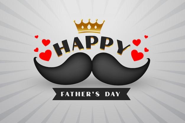 Giorno di padri felice stile hipster sfondo Vettore gratuito