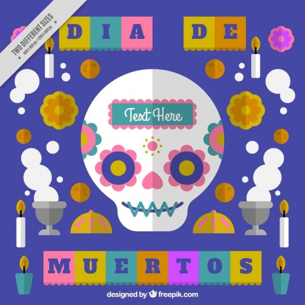 Giorno di sfondo dei morti in design piatto Vettore gratuito