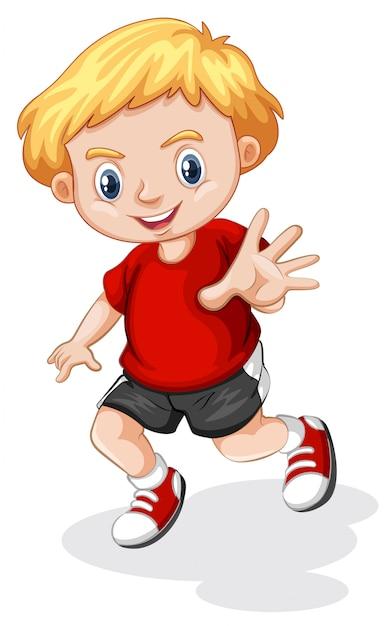 Giovane personaggio ragazzo biondo Vettore gratuito