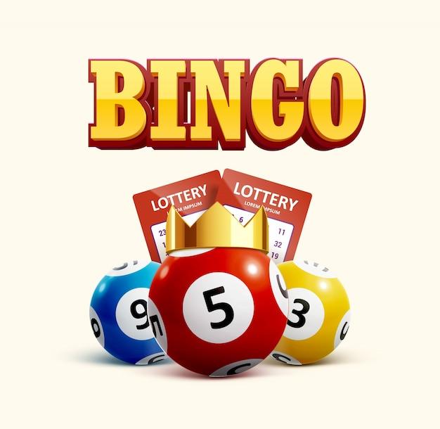 Gli oggetti realistici dell'icona della lotteria eps 10 Vettore Premium