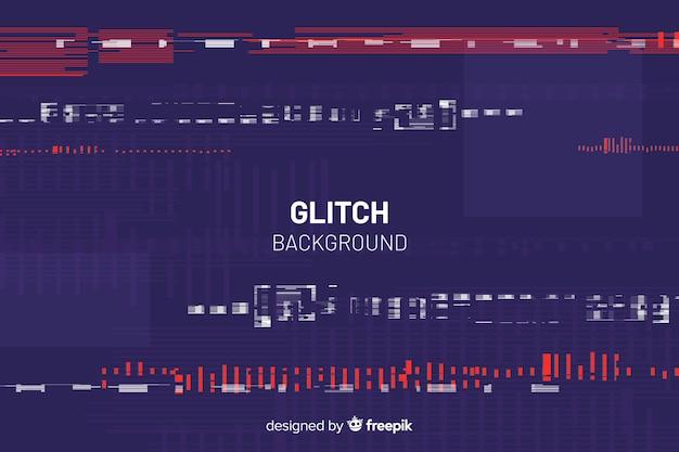 Glitch background Vettore gratuito