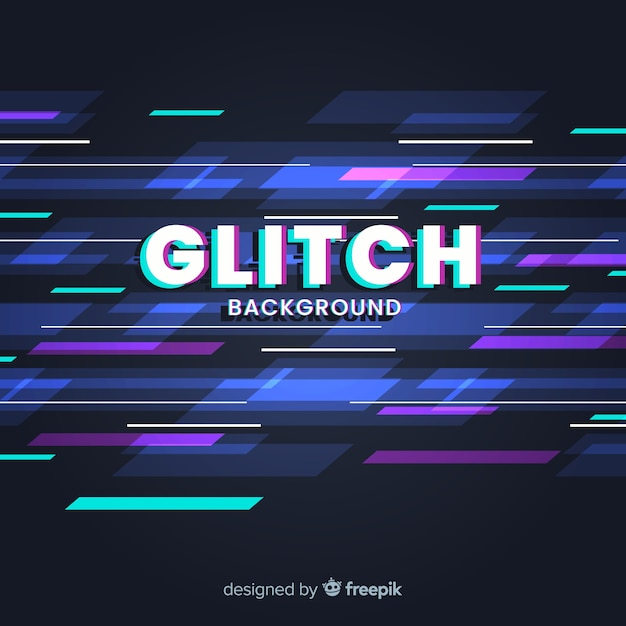 Glitch background Vettore gratuito