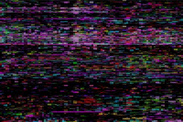 Glitch colorato sfondo astratto Vettore Premium