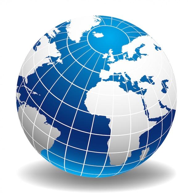 Globe of the world europa e africa Vettore Premium