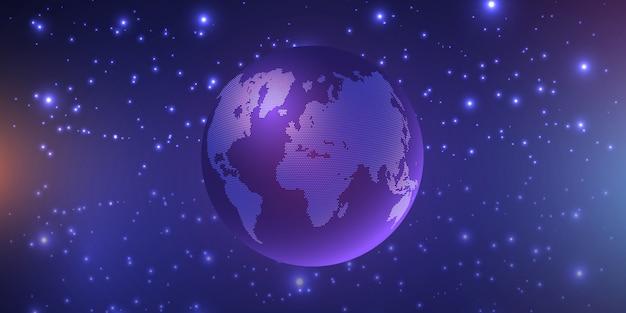 Globo galleggiante circondato da stelle Vettore gratuito
