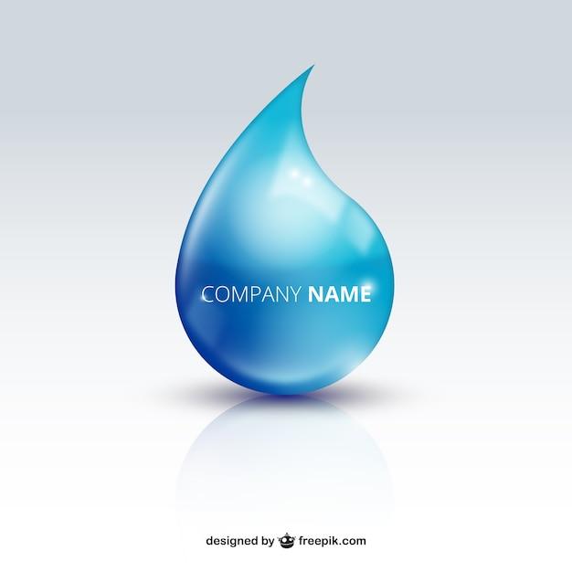 Goccia d'acqua logo Vettore gratuito
