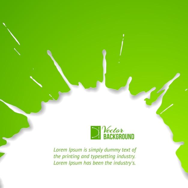Goccia verde su bianco. Vettore gratuito