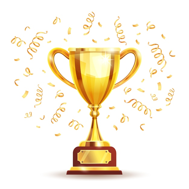 Golden winners cup Vettore gratuito