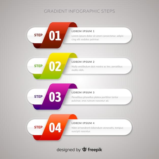 Gradi di infografica gradiente Vettore gratuito