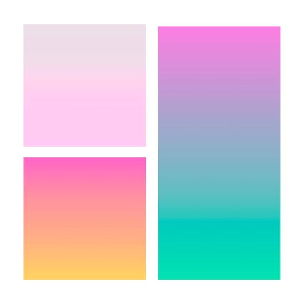 Gradiente astratto in viola, rosa, blu. Vettore Premium