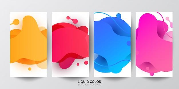 Gradiente di gradiente di liquido forme geometriche sfondo. Vettore Premium