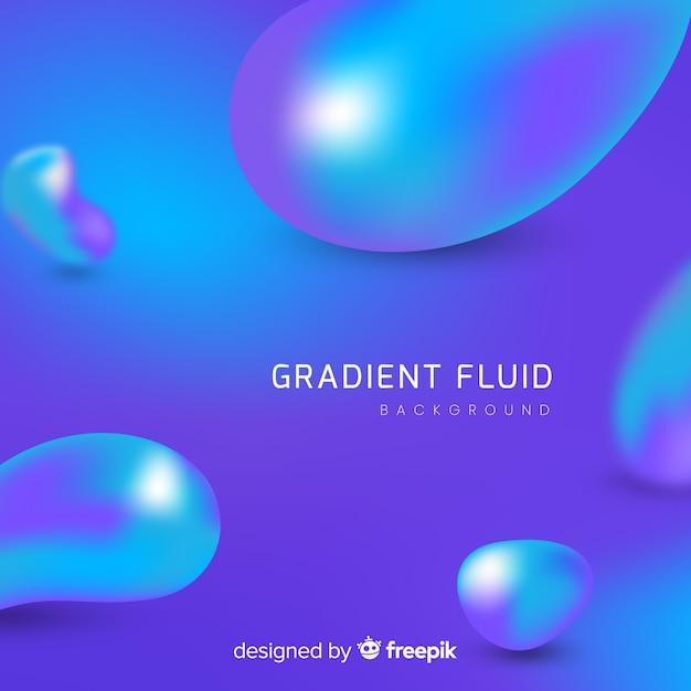 Gradiente di sfondo astratto con forme fluide Vettore gratuito