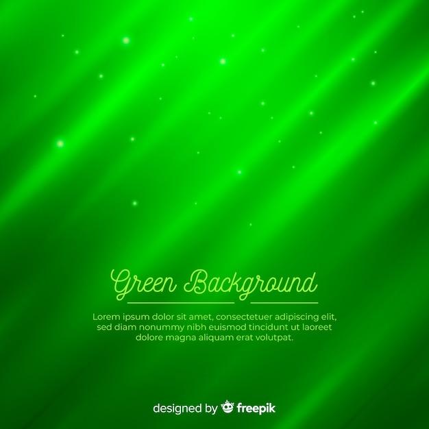 Gradiente di sfondo astratto moderno verde con forme Vettore gratuito