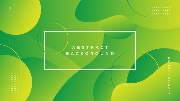 Gradiente di sfondo astratto verde vibrante Vettore Premium