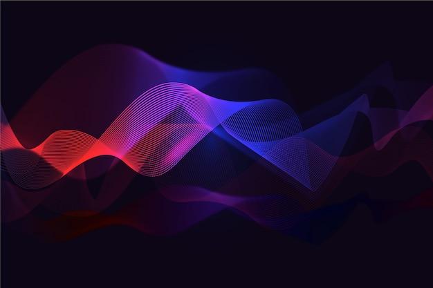 Gradiente di sfondo ondulato rosso e blu Vettore gratuito