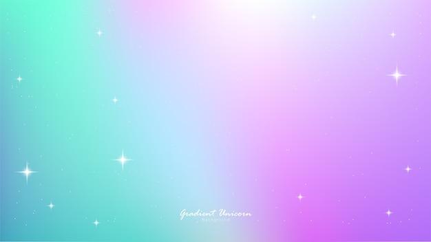Gradiente di unicorno Vettore Premium